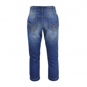 Jeans Stickerei Blau Stonewashed